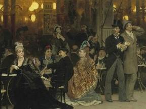 """Фрагмент картины """"Парижское кафе"""". Изображение с сайта Christie's"""