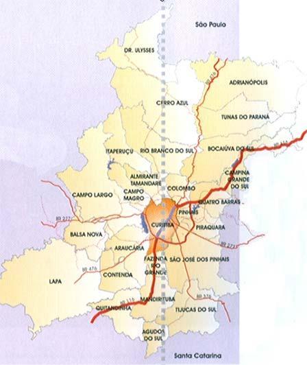 Город и его окрестности (карта)