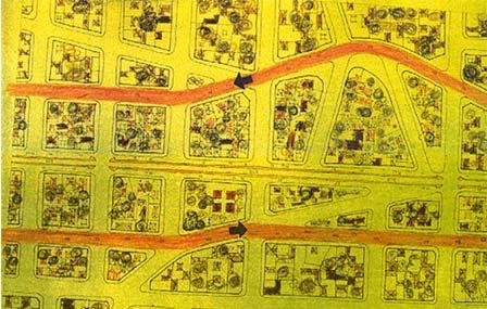 Схема «трех улиц» вновой застройке