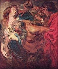 Антонис ВанДейк. Пьяный Силен. 1620