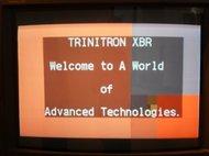 Заставка телевизора Sony Trinitron XBR