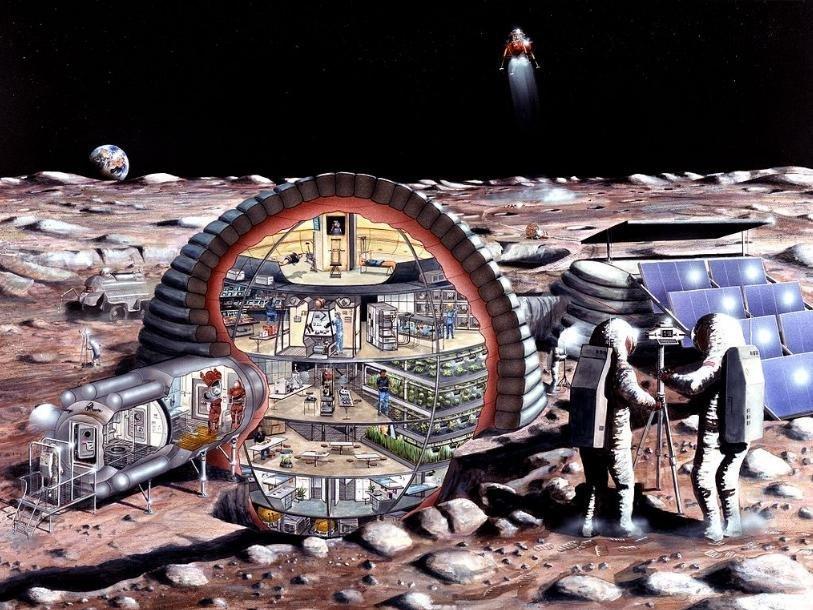 Наорбиту Луны запускают жилой модуль