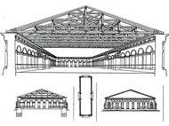 Московский Манеж. Проект Бетанкура, 1819 г.
