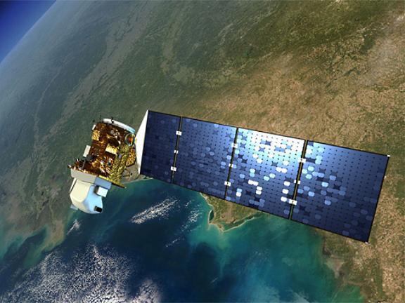 Спутник Landsat 8 на орбите