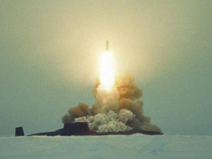 пуск баллистических ракет с подводной лодки