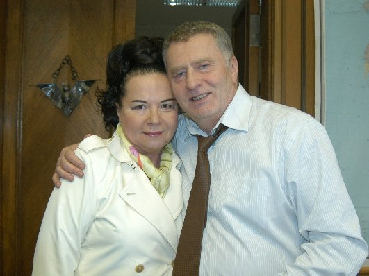 Владимир Жириновский с женой