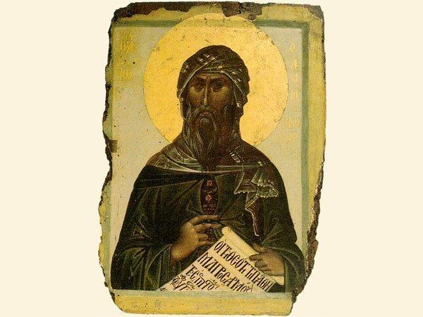 Иоанн Дамаскин, икона начала XIV века, фото Wikipedia