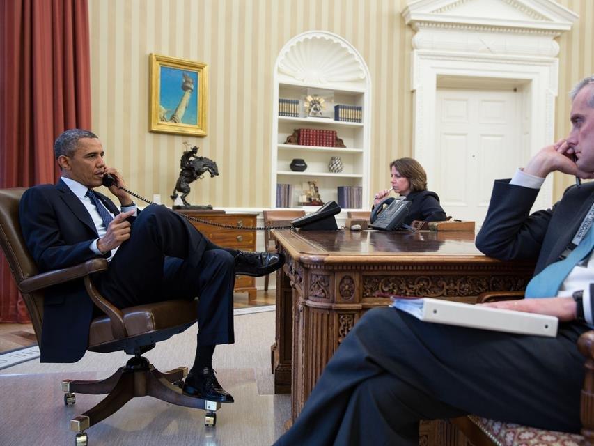 Разговор Обамы и Владимира Путина : версия американского президента