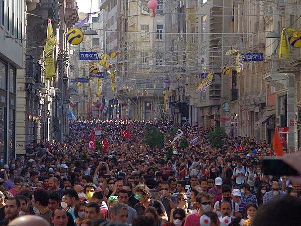 У площади Таксим. Фото Alan Hilditch