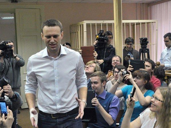 Алексей Навальный в Кировском суде Фото: Геннадий Гуляев/Коммерсантъ