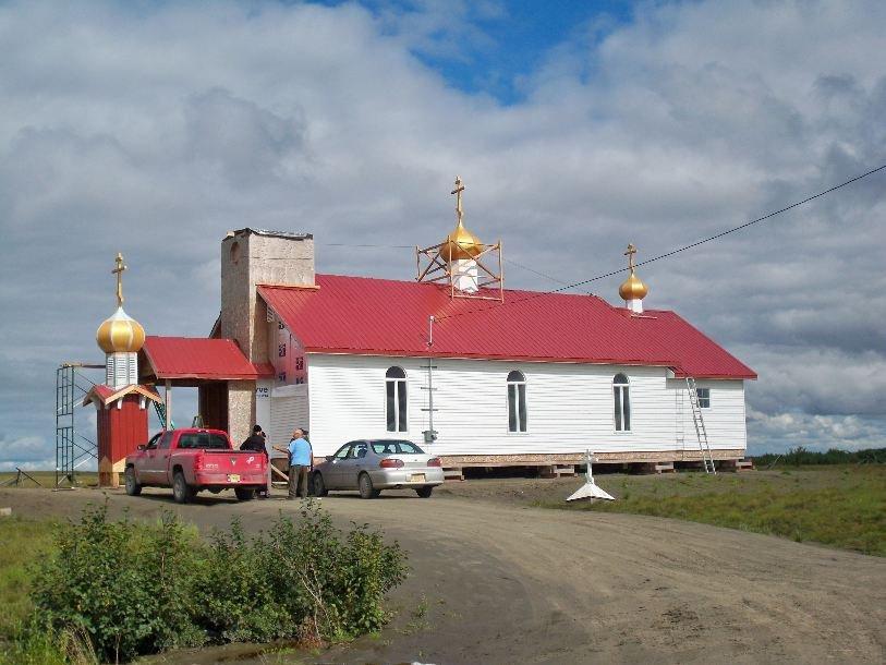 Строительство новой православной церкви в поселке Bethel на Аляске