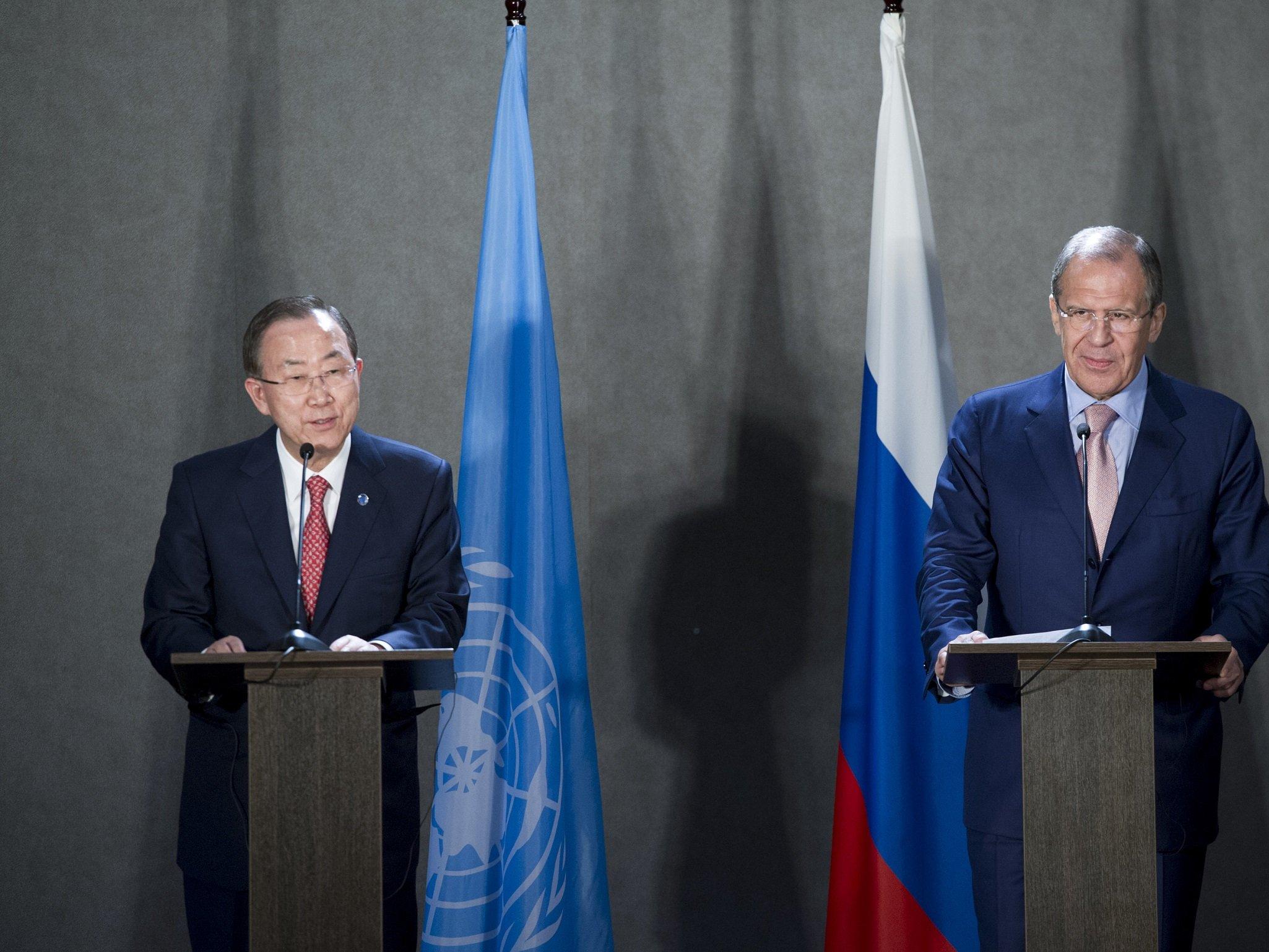 Сирия иДонбасс стали темами переговоров Лаврова иПан ГиМуна