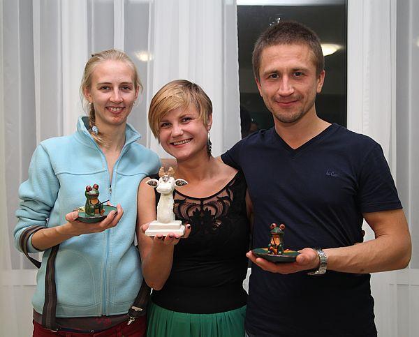 Дарья Сидорова, Светлана Сигалаева и Максим Сердюк