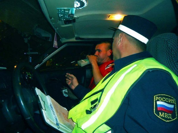 Проверка водителя на трезвость