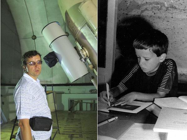 Дмитрий Вибе в детстве и сейчас