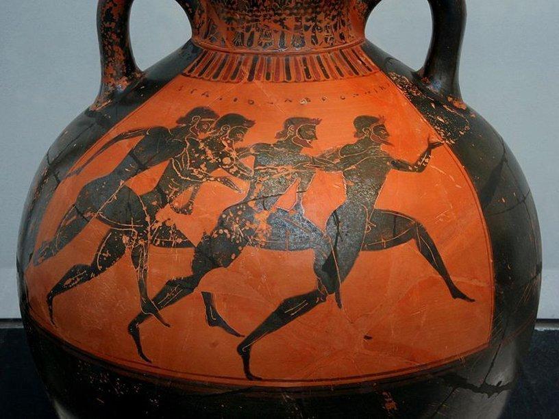 Древнегреческие олимпийские игры картинки на вазах