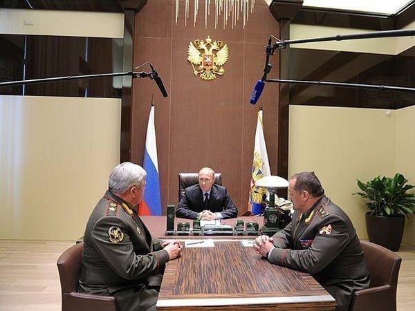 Встреча Владимира Путина с Николаем Рогожкиным и Сергеем Меликовым