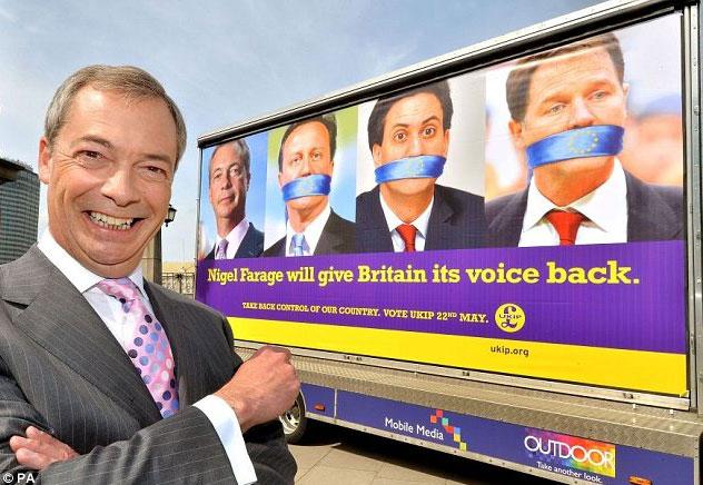 Nigel Farage. Источник: Daily Mail