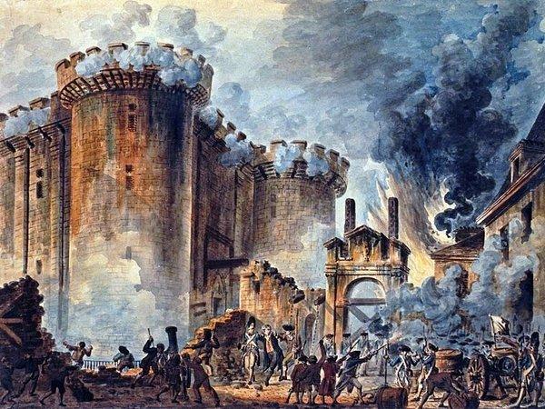 «Взятие Бастилии 14 июля 1789» художника Жан-Пьера Уэля (Jean-Pierre Houël)