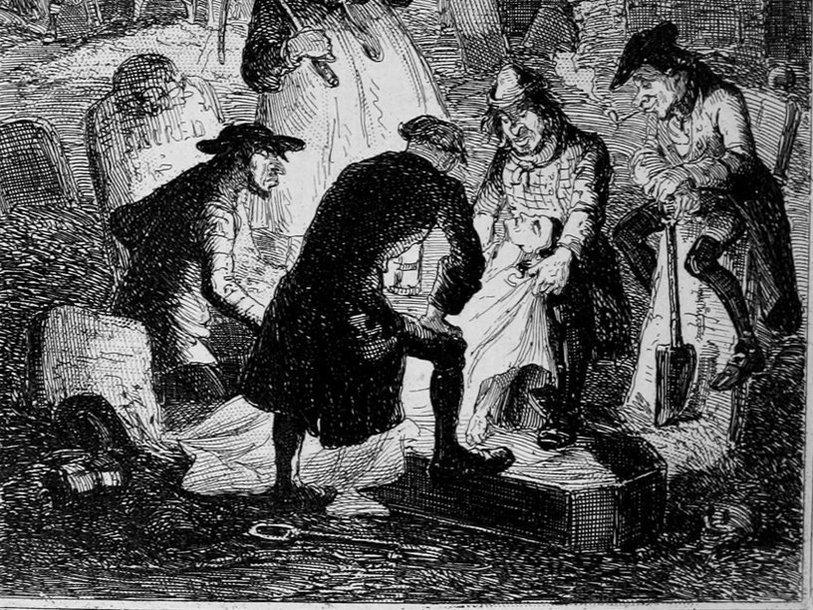 «Воскресители». Гравюра Хэблота Брауна (1847)