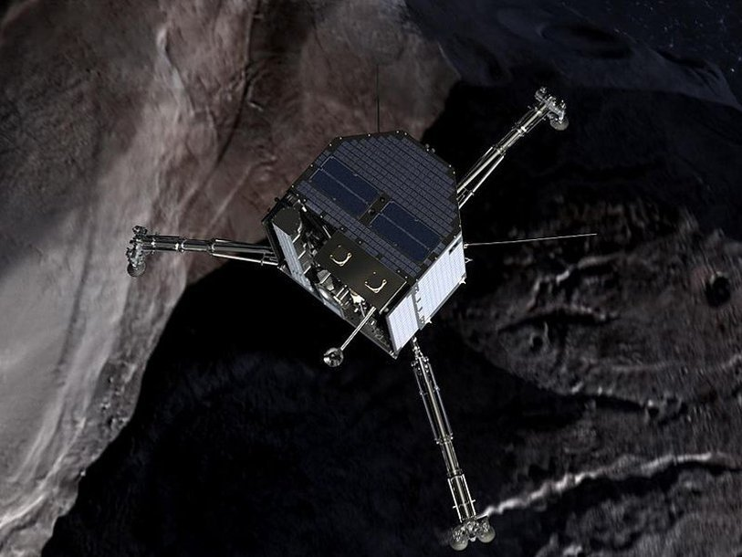 Модуль Philae: изображение из фильма «Chasing A Comet — The Rosetta Mission»