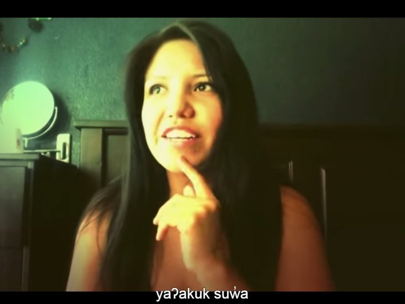 Одна из участников Indigenous Language Challenge Jackelyn Seitcher