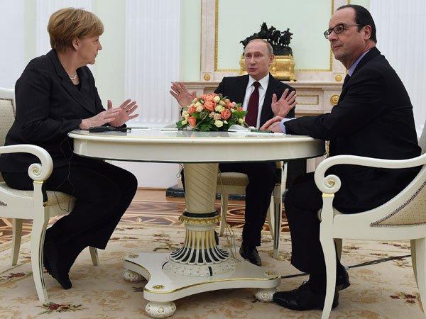 Путин, Меркель иОлланд договорились овстрече насаммите G20