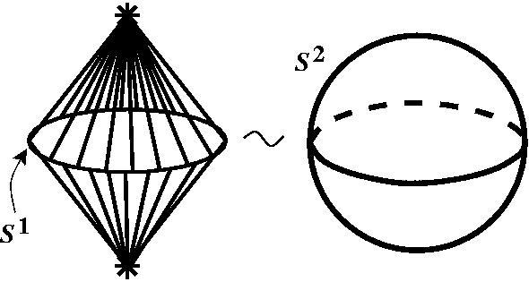 Получение сферы S2 из сферы S1 посредством надстройки
