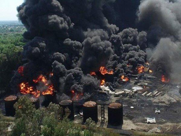 НаКременчугском НПЗ произошел мощный взрыв— ГСЧС