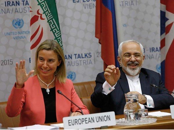 Image result for ядерная сделка с ираном зариф могерини