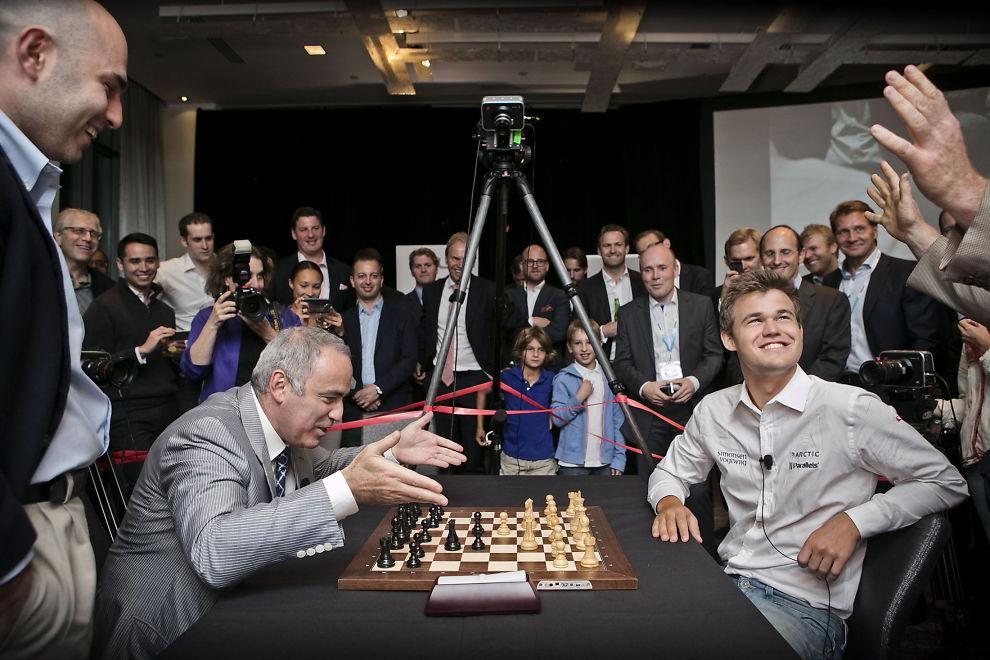 Гарри Каспаров и Магнус Карлсен, 2014