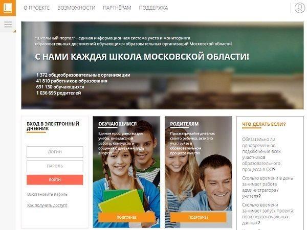 Школьный портал столичной области ежедневник