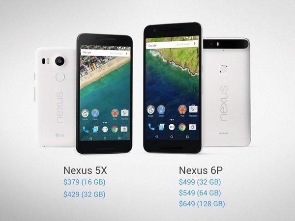 Nexus 5X и Nexus 6P
