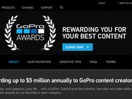Скриншот страницы GoPro Awards