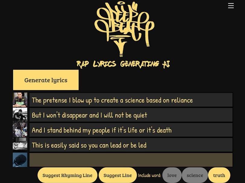 Free Rap Lyrics Generator Melobytes pro (text to song). free rap lyrics generator