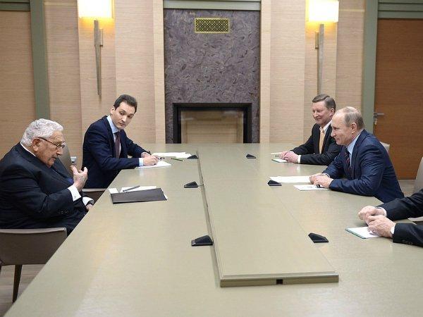Встреча Владимира Путина и Генри Киссинджера