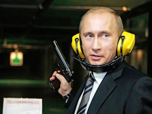 Президент Владимир Путин в тире