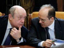 Михаил Фрадков и Александр Бортников (справа)