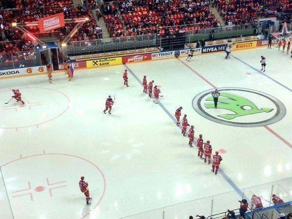 Сборная России по хоккею перед матчем со сборной Германии