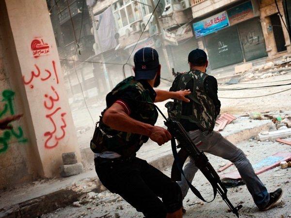 Уличные бои в Сирии
