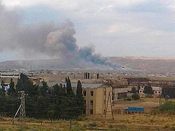 При взрыве на складе боеприпасов в Азербайджане пострадали шестеро