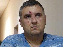 Человек, представившийся Евгением Пановым, в суде Симферополя.