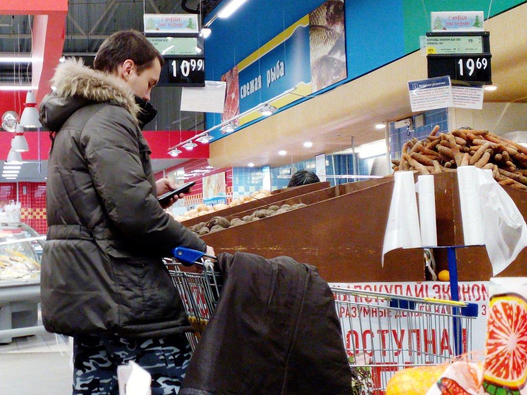 Стоимость продуктов в РФ растет скорее, чем в EC