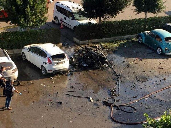На месте взрыва в Анталье