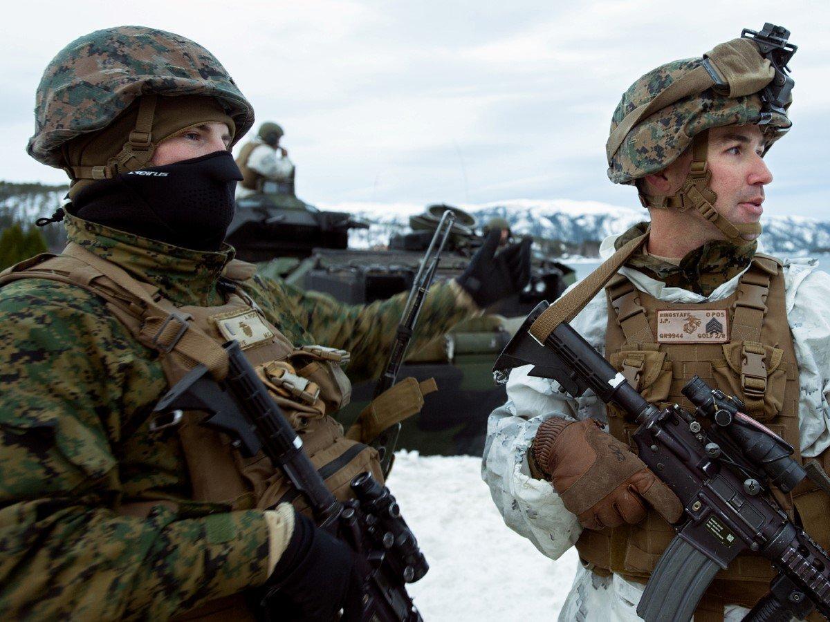 Норвегия готова расположить усебя морских пехотинцев США— Впику Российской Федерации