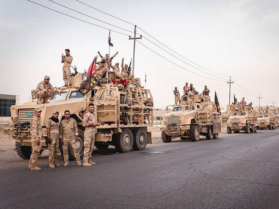 16-я дивизия армии Ирака на подступах к Мосулу