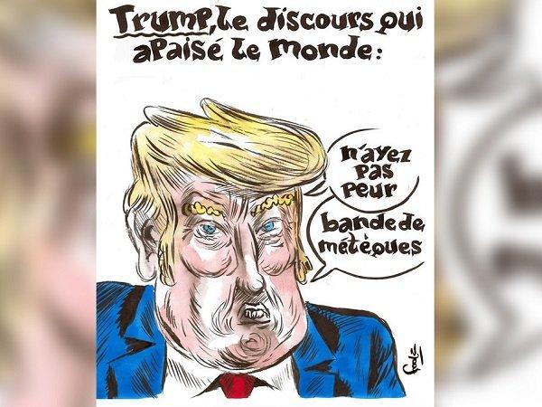 Charlie Hebdo посвятил обложку нового номера победе Дональда Трампа