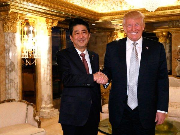 Премьер  Японии поддержал позицию Трампа одопустимости войны сКНДР