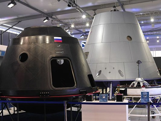 Макет корабля Федерация представленный на МАКС 2013