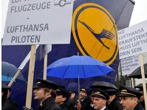 «Борисполь» объявил оботмене рейсов— Забастовка пилотов Lufthansa